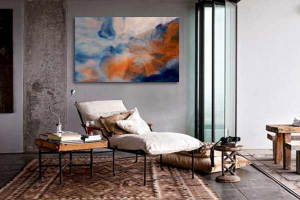 Tableau abstrait contemporain Smoky