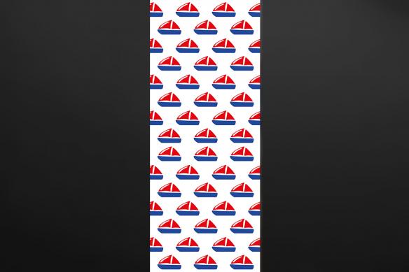 Poster mural maman les petits bateaux