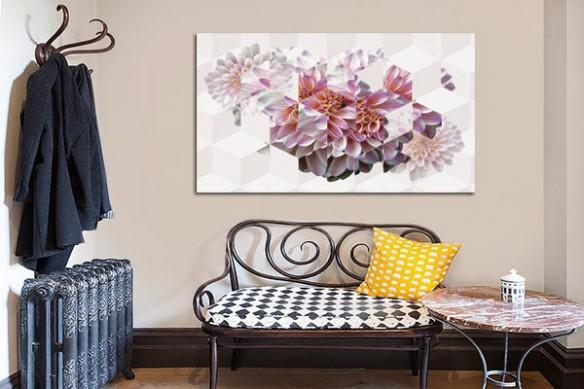 Toile originale Dahlia Fleur Géométrique