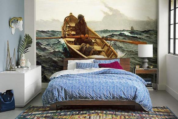 Papier peint chambre la pêche au gros