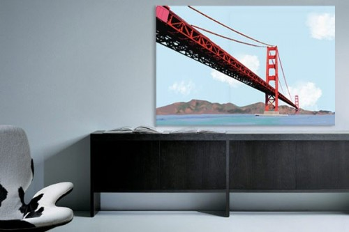 Tableau moderne Golden Gate izoa