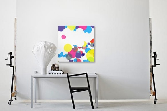 Tableau abstrait coloré Tanaka
