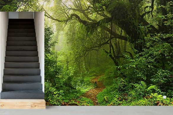 Trompe l'oeil Forêt Tropicale