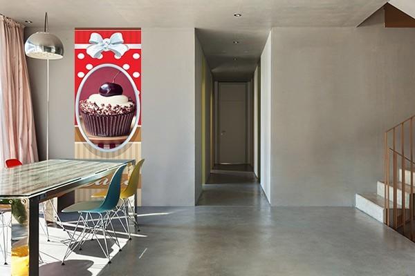 papier peint cuisine g teau sur la cerise izoa. Black Bedroom Furniture Sets. Home Design Ideas