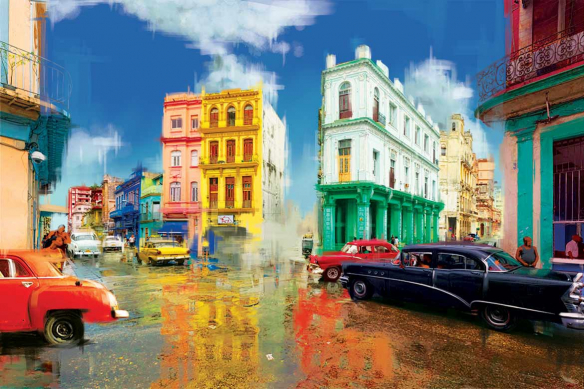 papier peint peinture Cuba
