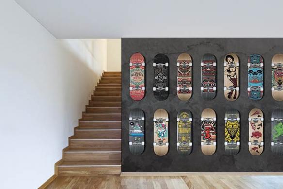 Papier peint graphique Collection de Skates
