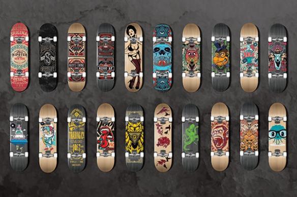 Papier peint design Collection de Skates