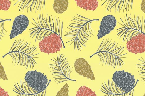 Poster xxl Pignon de pin jaune