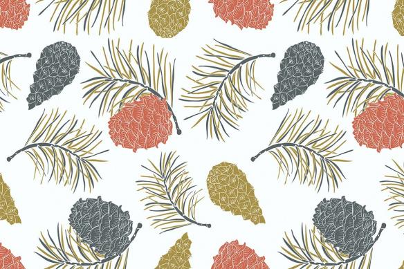 papier peint vintage Pignon de pin blanc