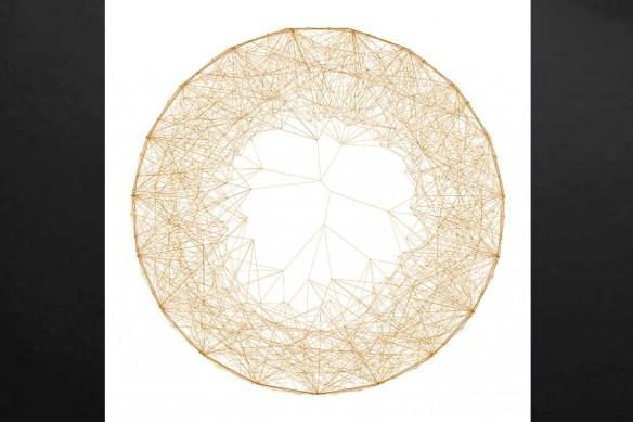 tableau abstrait Connexion orange