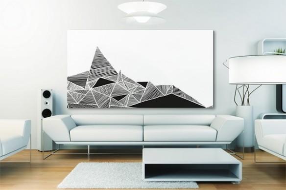 Tableau original black & white