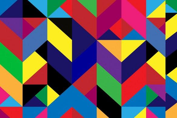 Papier peint géométrique Cubisme