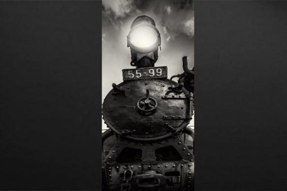 trompe l'oeil locomotive vapeur