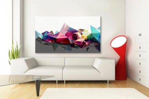 Tableau abstrait Diamants Design