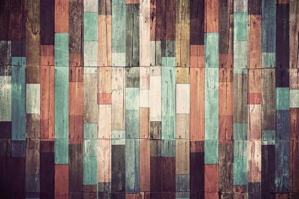 Papier peint imitation barrières bois