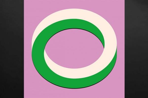 Déco murale vintage looping vert
