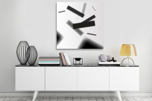Tableau contemporain Pluie abstraite