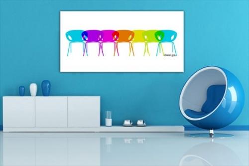 Tableau design Chaises01 by Marion Lechat