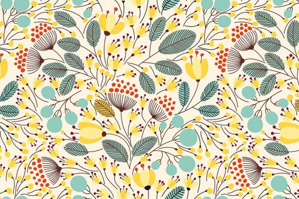 Poster mural fleurs scandinaves