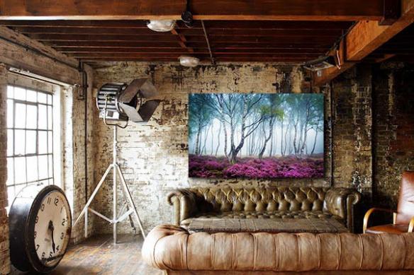 Tableau contemporain Forêt Romantique