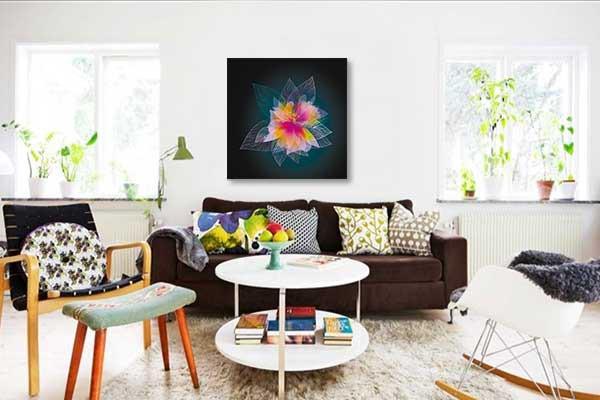 d coration murale pink magic izoa. Black Bedroom Furniture Sets. Home Design Ideas