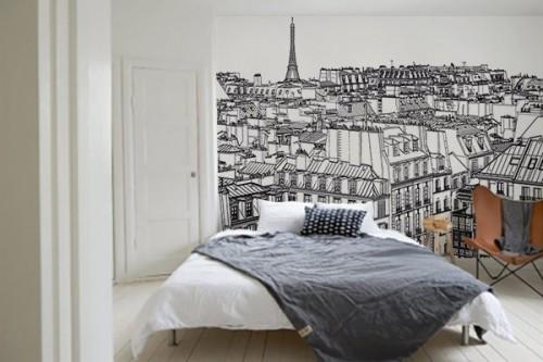Papier peint poster Toits de Paris
