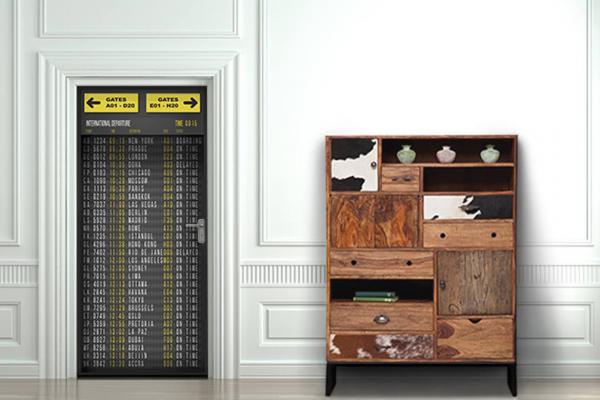 poster pour porte panneau a roport izoa. Black Bedroom Furniture Sets. Home Design Ideas