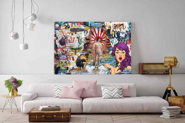 tableau pop art martyr izoa. Black Bedroom Furniture Sets. Home Design Ideas
