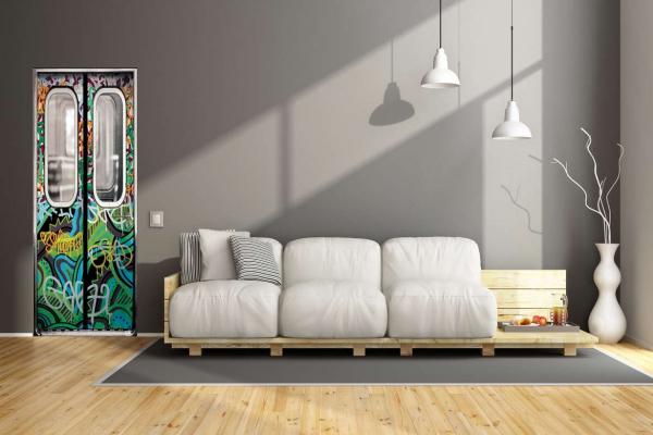 poster de porte m tro tag izoa. Black Bedroom Furniture Sets. Home Design Ideas