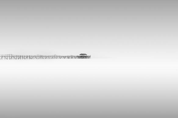 Toile murale noir et blanc lac
