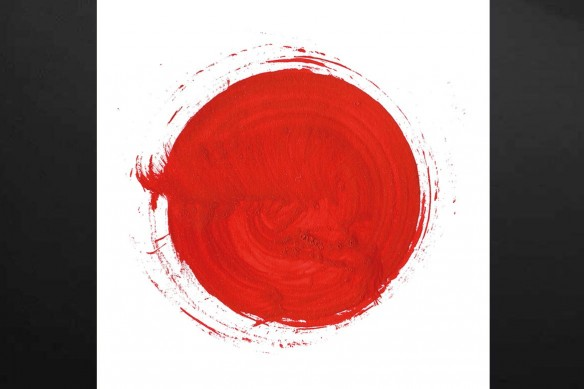 Toile murale mandala sable rouge