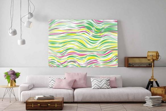 Tableau abstrait horizontal Line