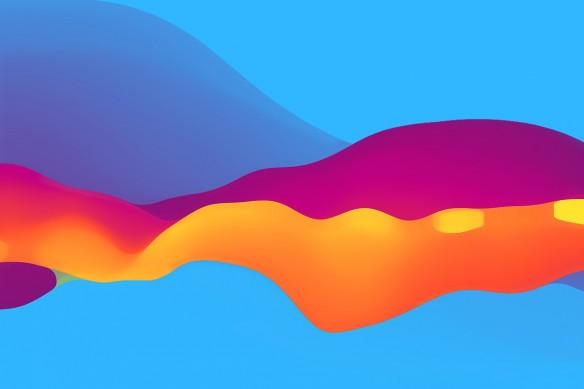 Tableau coloré contempoarin electrique