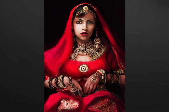 Toile murale Femme Indienne