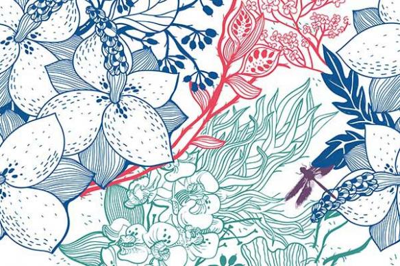 Poster mural Fleur Nature 4 couleurs