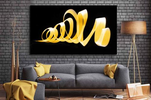 Tableau abstrait Nemesis jaune