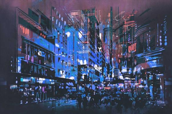 Toile murale New York Chelsea bleu