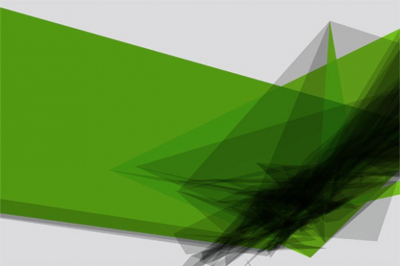 Papier peint graphique superposition vert