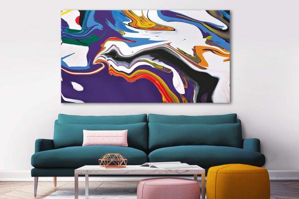 tableau abstrait color sinam tableaux d coration pour. Black Bedroom Furniture Sets. Home Design Ideas