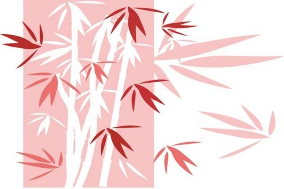 Tableau xxl deco Bambou rouge