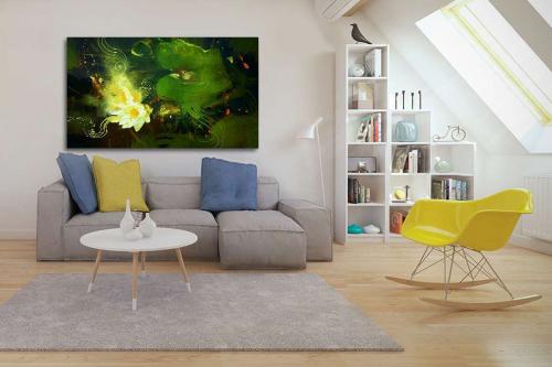 tableau de décoration vert photosynthèse