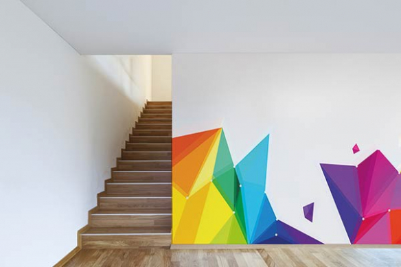 Papiers peints géometrique coloré