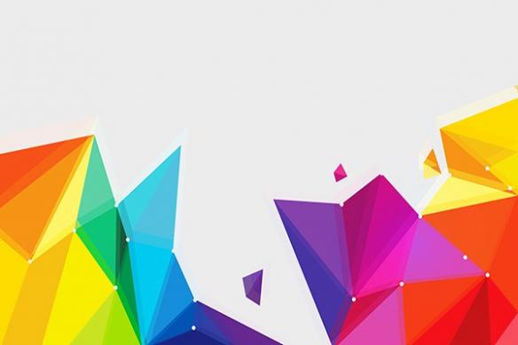 papier peint graphique coloré