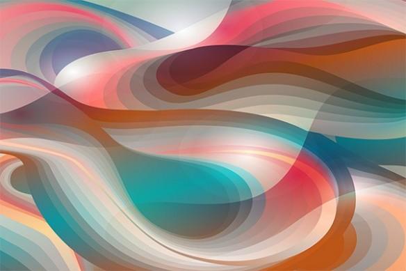 papier peint psychédelique vague rétro