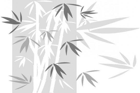 Ttoile photo Bambou noir et blanc