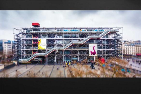 Tableau contemporain Centre Pompidou