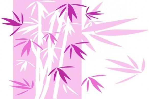 décor mural Bambou rose