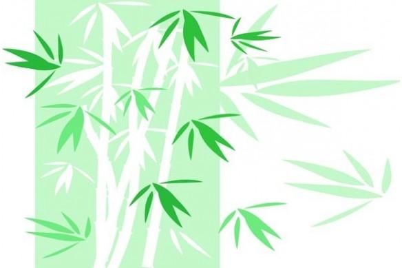 Tableau design deco Bambou vert