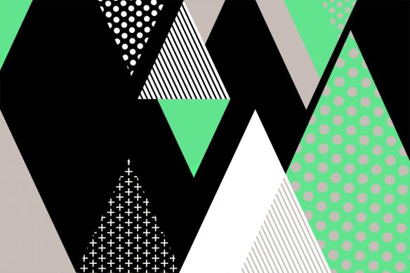 Tableau abstrait minimaliste Tartane vert