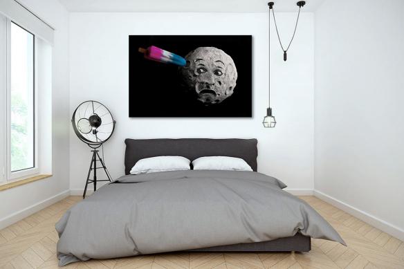 Tableau contemporain Voyage dans la Lune